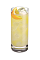 The Passion Fruit Lemonade is a yellow colored drink made from Smirnoff Passionfruit vodka, lemonade and a lemon, and served over ice in a highball glass.