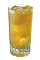The Southern Hospitality is an orange colored drink made from Southern Comfort, watermelon Pucker, amaretto, triple sec and Red Bull, and served over ice in a highball glass.