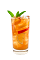 The Southern Peach Tea drink is made from Smirnoff peach vodka, lemonade, iced tea, simple syrup and mint, and served over ice in a highball glass.